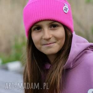 czapki neon pink czapka dla dziecka logo kolor, kids beanie, dziecięca