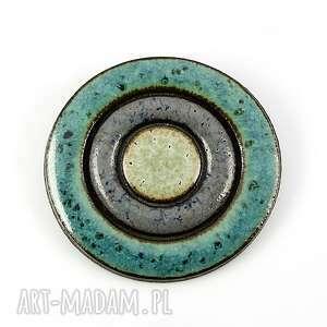 gold coast - ceramika, broszka, niebieski
