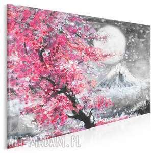 obraz na płótnie - japonia wiśnia pejzaż 120x80 cm 89901, japonia