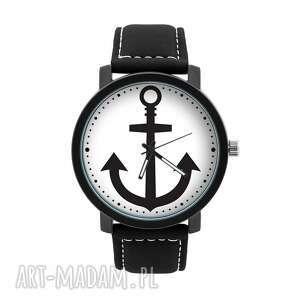 zegarek męski z grafiką kotwica, homemade, morski, marynarz, elegancki