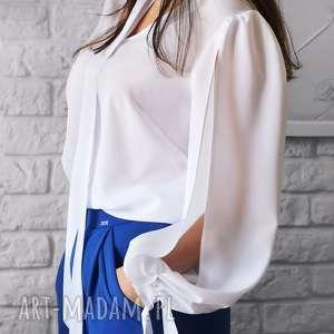 ręcznie zrobione bluzki bien fashion elegancka bluzka damska z wiązaniem