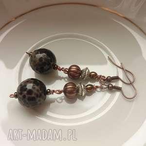judithbijoux baronne - eleganckie kolczyki, agat, eleganckie, bogate