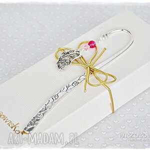 elegancka zakładka - motyl i kryształ, zakładka, swarovski, jadeit, motyl, prezent