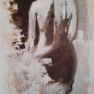 pastelowy 26x41, obraz-kobieta, akt-obraz, postać-obraz, pastelowy-obraz