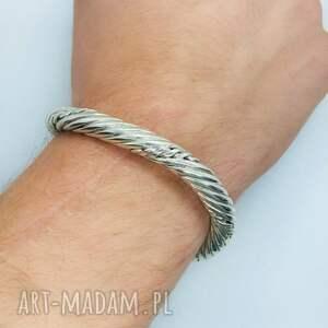 bransoleta wikingów nordycka męska wiking srebro, nordycka, biżuteria