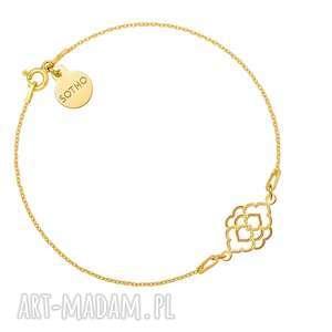 bransoletki złota bransoletka z marokańską rozetką, bransoletka, zawieszka, rozetka