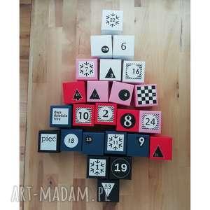 kalendarz adwentowy z magnesem kalendarz dla dzieci 24 papierowe pudełeczka