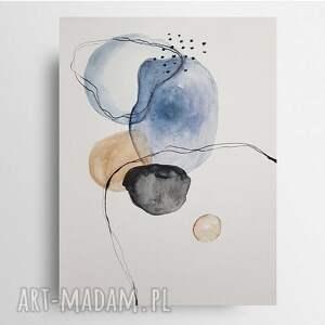 abstrakcja-akwarela formatu 24/32 cm, akwarela, abstrakcja