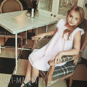 ręczne wykonanie latori - sukienka dziewczęca z kolekcji mama i córka dla córki ld43/1