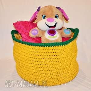 kosz na zabawki - kosz, dekoracja, sznurek