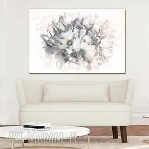 pastelowy obraz na ścianę bukiet magnolii 120 x 80, nowoczesny do salonu