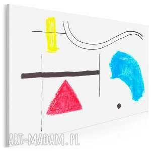 obraz na płótnie - miró abstrakcja kształty 120x80 cm 704002