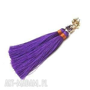 BOHO - purple vol. 3 /25-04-18/ kolczyki, chwosty, boho, cyrkonie