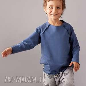 bluza basic niebieska, bluza, wiosna, łaty, kieszenie, chaber