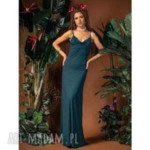 sukienki ariel maxi - suknia z dekoltem wodą