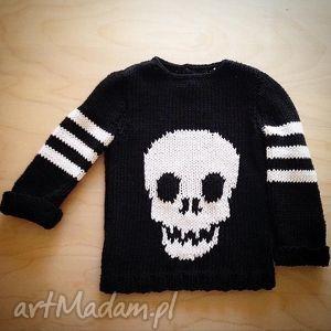 bawełniany sweterek z czachą, sweterek, sweter, bawełna, dziecko, czaszka