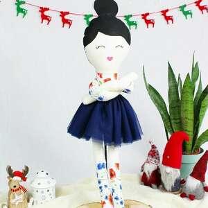 klementynka, piękna lalka szmacianka ogromna, prawie 75 cm