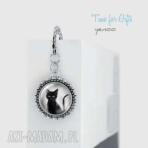 Zakładka do książki - czarny kot metalowa zakładki yenoo