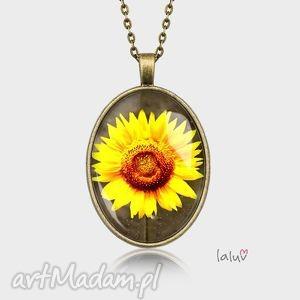 medalion owalny sŁonecznik - kwiat, kwiatki, łąka, słońce, prezent