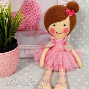 hand-made lalki baletnica w pudrowych odcieniach