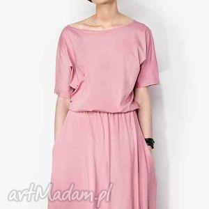 ręcznie zrobione sukienki sukienka maxi z kieszeniami