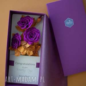 Karteczki 3d na prezent scrapbooking kartki mira flowers93