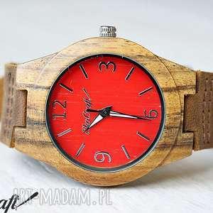 Drewniany zegarek TECTONA RED women, drewniany, zegarek, tekowy, drewno, damski