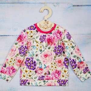 świąteczny prezent, bluza rose, bluza, kwiaty, bez kaptura, rozmiar 92