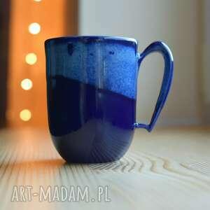 ceramika kubek ceramiczny morski kobalt, kubek, ceramika