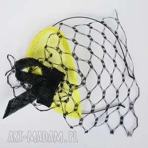 oryginalny prezent, fascynatory neon, fascynator, limonka, sinamay