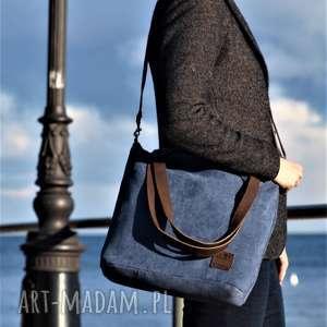 hand-made na ramię lekka i poręczna niebieska torba 2708