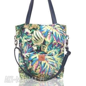 ręczne wykonanie torebki oryginalna torba w tropikalne liście monstery