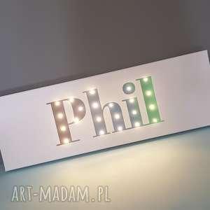 Napis led twoje imię obraz dekoracja lampa personalizowany