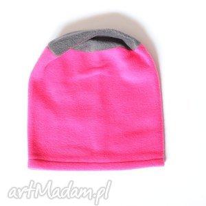 ruda klara czapka polarowa dziewczęca, dziecko, polar, wiosna