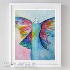 anioł-akwarela formatu