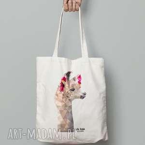 torebki torba bawełniana z lamą, torba, zakupy, lama, lowpoly, eko, ekologiczna