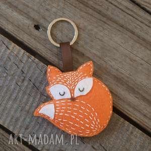 handmade breloki breloczek do kluczy z filcu lis