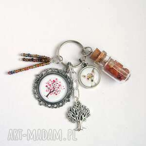 breloczek - drzewko miłości, sarenka, breloczek, sarna, drzewko, karneol, unikat