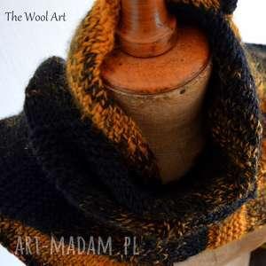 ciepła chusta, na drutach, ciepła, wełniana, prezent, szal