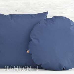 komplet poduszek dekoracyjnych 40x40cm granatowe - 2 sztuki - poduszka, poduszki, poszewka