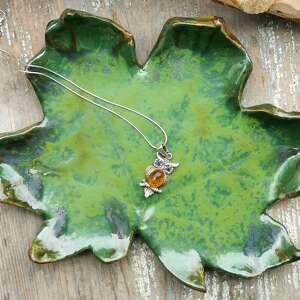 Listek ceramiczny, talerzyk c63 ceramika shiraja liść, talerzyk