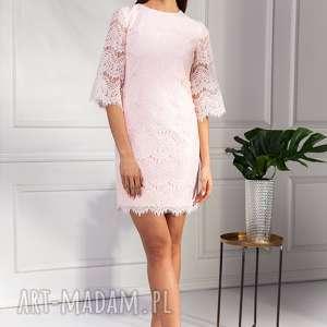 Sukienka Carla, wesele, mini, koktailowa, koronkowa