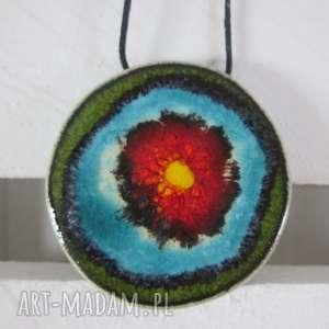 wisior ceramiczny z dobrą energią, ceramiczny, wisior, wisiorek, ceramiki, kolorowy