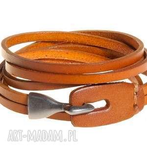 bransoletka skórzana męska jasny brąz rzemień, bransolety, bransoletki
