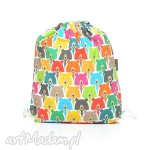 pracownia-milutka plecak worek przedszkolaka kolorowe misie