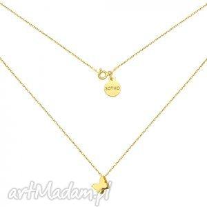 złoty naszyjnik z motylkiem - złote naszyjniki, pszczółka