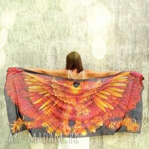 chustki i apaszki duży szal jedwabny skrzydła feniska 200 x 90 cm