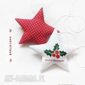 prezent świąteczny Christmas - komplet dwóch gwiazdeczek do zawieszenia , święta
