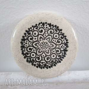 broszka ceramiczna ze wzorem - ,ceramiczna,upominek,prezent,
