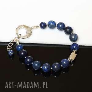 wyjątkowy prezent, bransoletki lapis lazuli - bransoletka, lapis, lazuli, srebro